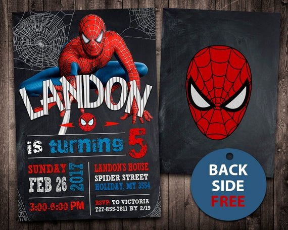 Spiderman Birthday Invitation Template Awesome Spiderman Invitation Spiderman Birthday Invitation