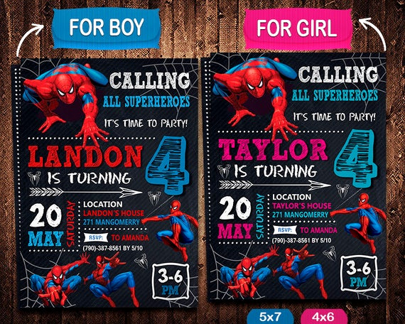 Spiderman Birthday Invitation Template Awesome Spiderman Invitation Spiderman Invite Spiderman Birthday