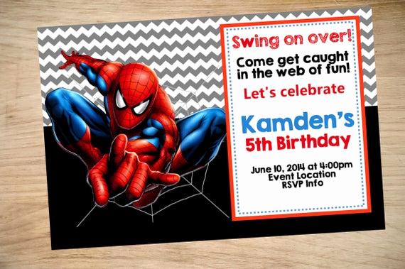 Spiderman Birthday Invitation Template Best Of Spider Man Birthday Invitation Spider Man Invitation