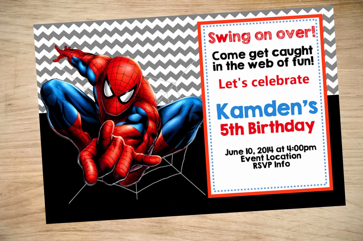 Spiderman Birthday Invitation Template Elegant Spider Man Birthday Invitation Spider Man Invitation