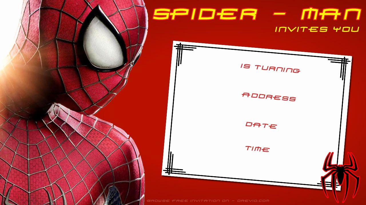 Spiderman Birthday Invitation Template Fresh Free Printable Blank Spiderman Birthday
