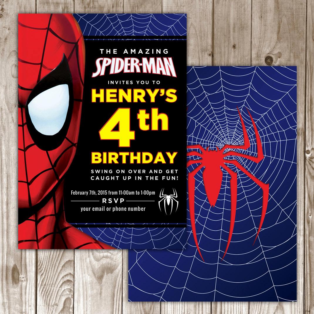 Spiderman Birthday Invitation Template Fresh Spiderman Birthday Invitation