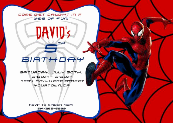 Spiderman Birthday Invitation Template Lovely Items Similar to Spiderman Invite Spiderman Birthday