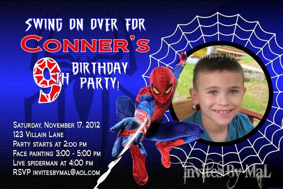 Spiderman Birthday Invitation Template Luxury Spiderman Birthday Invitation by Invitesbymal On Etsy