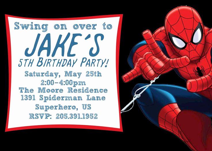 Spiderman Birthday Invitation Template New Free Printable Spiderman Birthday Invitation Templates