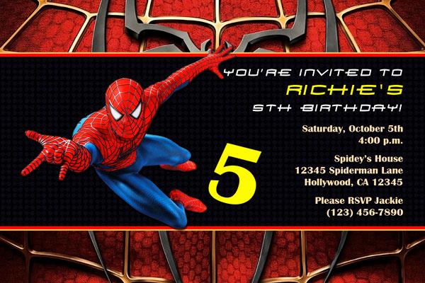 Spiderman Birthday Invitation Template New Spiderman Invitations General Prints