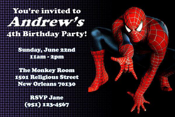 Spiderman Birthday Invitation Template Unique 71 Printable Birthday Invitation Templates Word Psd