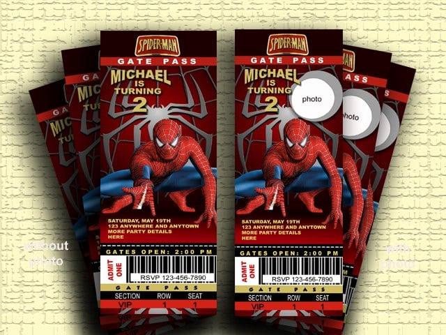 Spiderman Birthday Invitation Template Unique Spider Man Printable Birthday Invitation