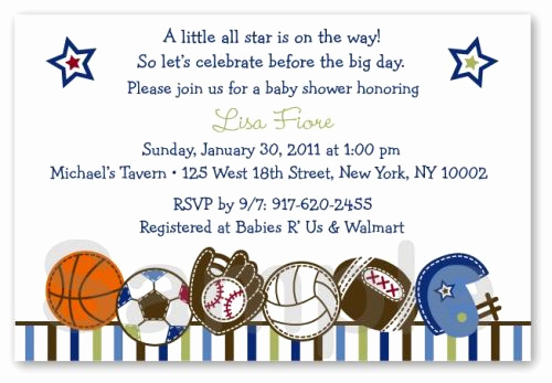 Sports Baby Shower Invitation Templates Awesome Sports Baby Shower Invitations Templates