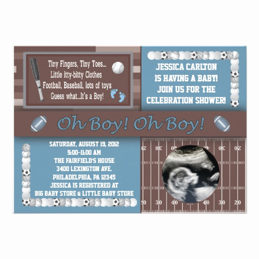 "Sports Baby Shower Invitation Templates Beautiful Sports Baby Shower Invitations 5"" X 7"" Invitation Card"