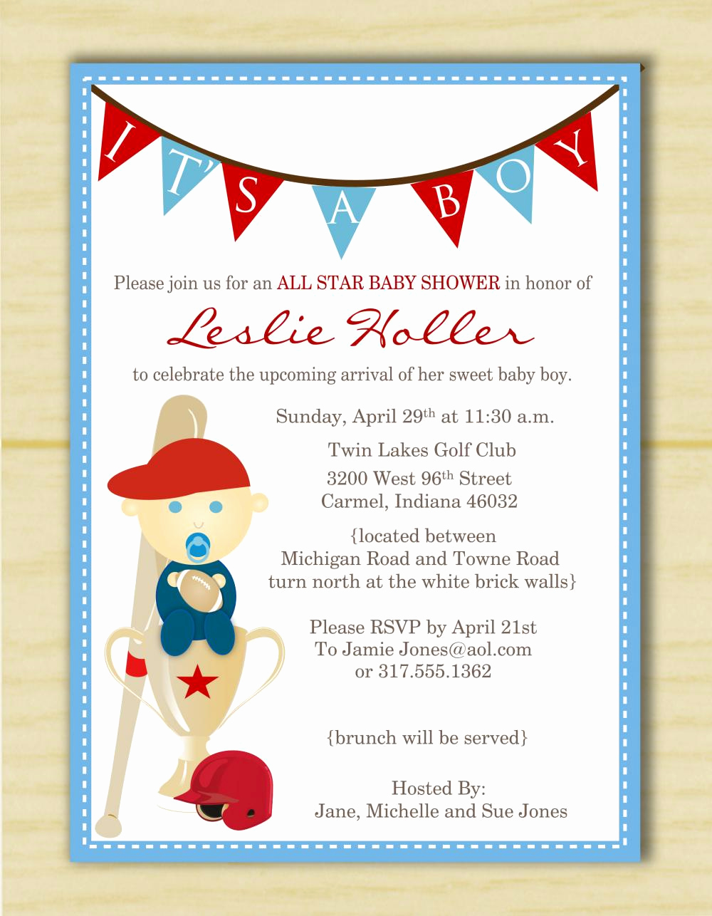 Sports Baby Shower Invitation Templates Best Of Sports themed Baby Shower Invitation Templates