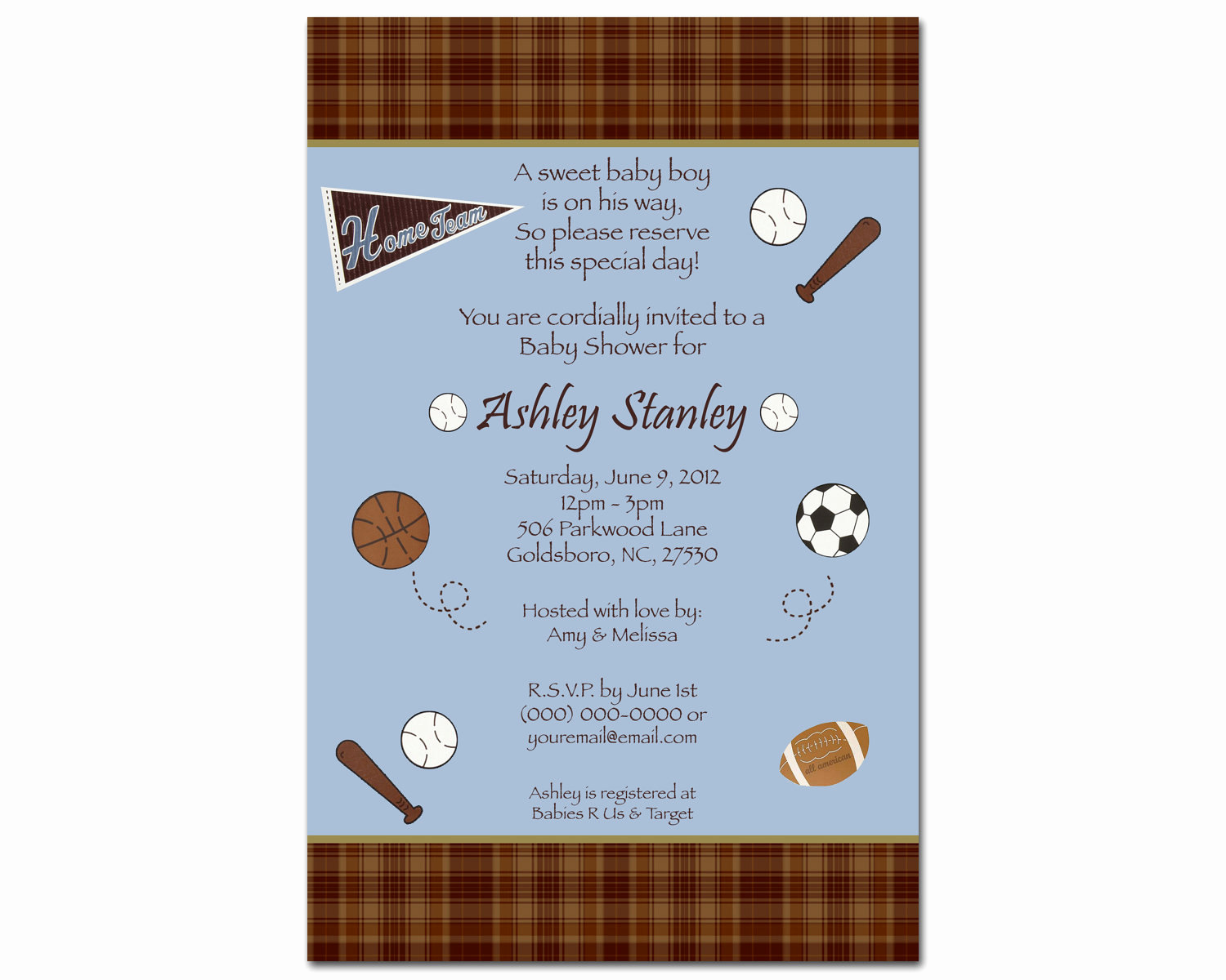 Sports Baby Shower Invitation Templates New 24 Printed Cocalo Sports Fan Boy Baby Shower by Bdesigns4you