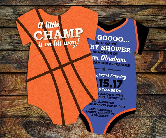 Sports Baby Shower Invitation Templates Unique 10 Basketball Baby Shower Invitations All Star Invitation