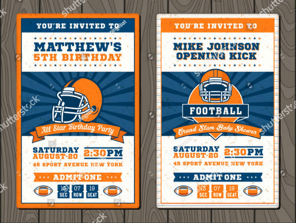 Sports Ticket Invitation Template Free Awesome 17 Sports Ticket Invitation Designs & Templates Psd Ai