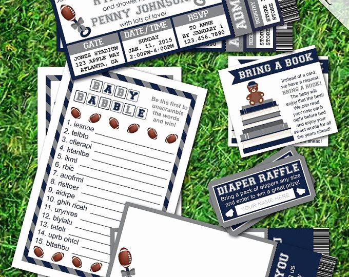 Sports Ticket Invitation Template Free Elegant Best 20 Diaper Invitation Template Ideas On Pinterest