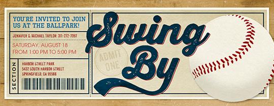 Sports Ticket Invitation Template Free New Free Baseball Invitations Ticket Designs & More Evite