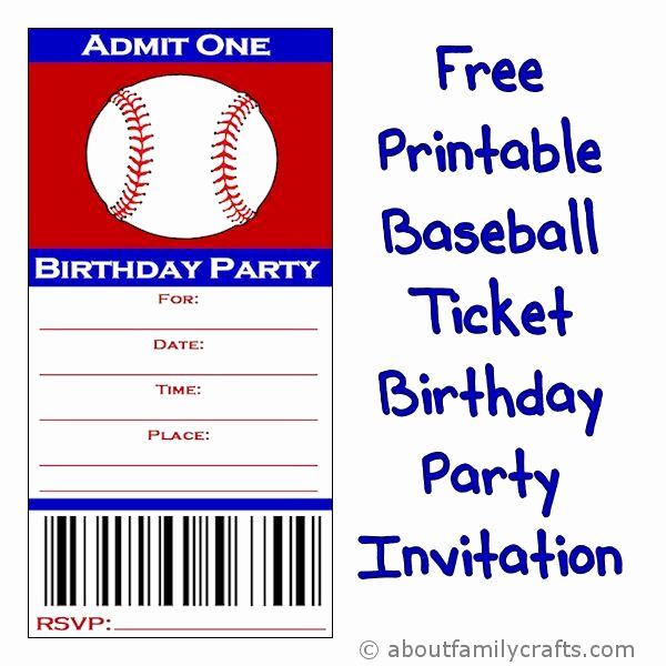 Sports Ticket Invitation Template Free Unique 25 Best Ideas About Baseball Tickets On Pinterest