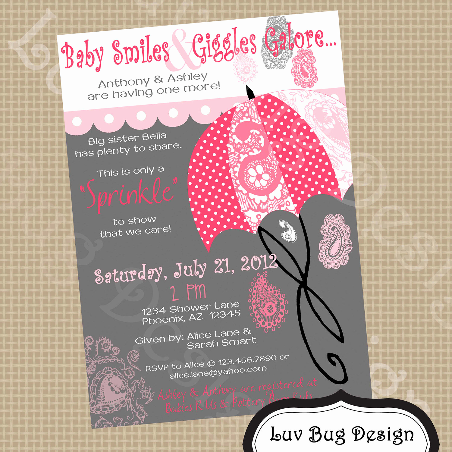 Sprinkle Baby Shower Invitation Wording Best Of Request A Custom order and Have something Made Just for You