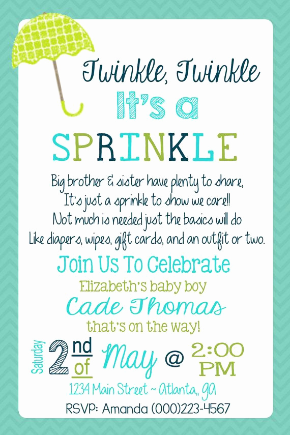 Sprinkle Baby Shower Invitation Wording Fresh Best 25 Baby Sprinkle Invitations Ideas On Pinterest