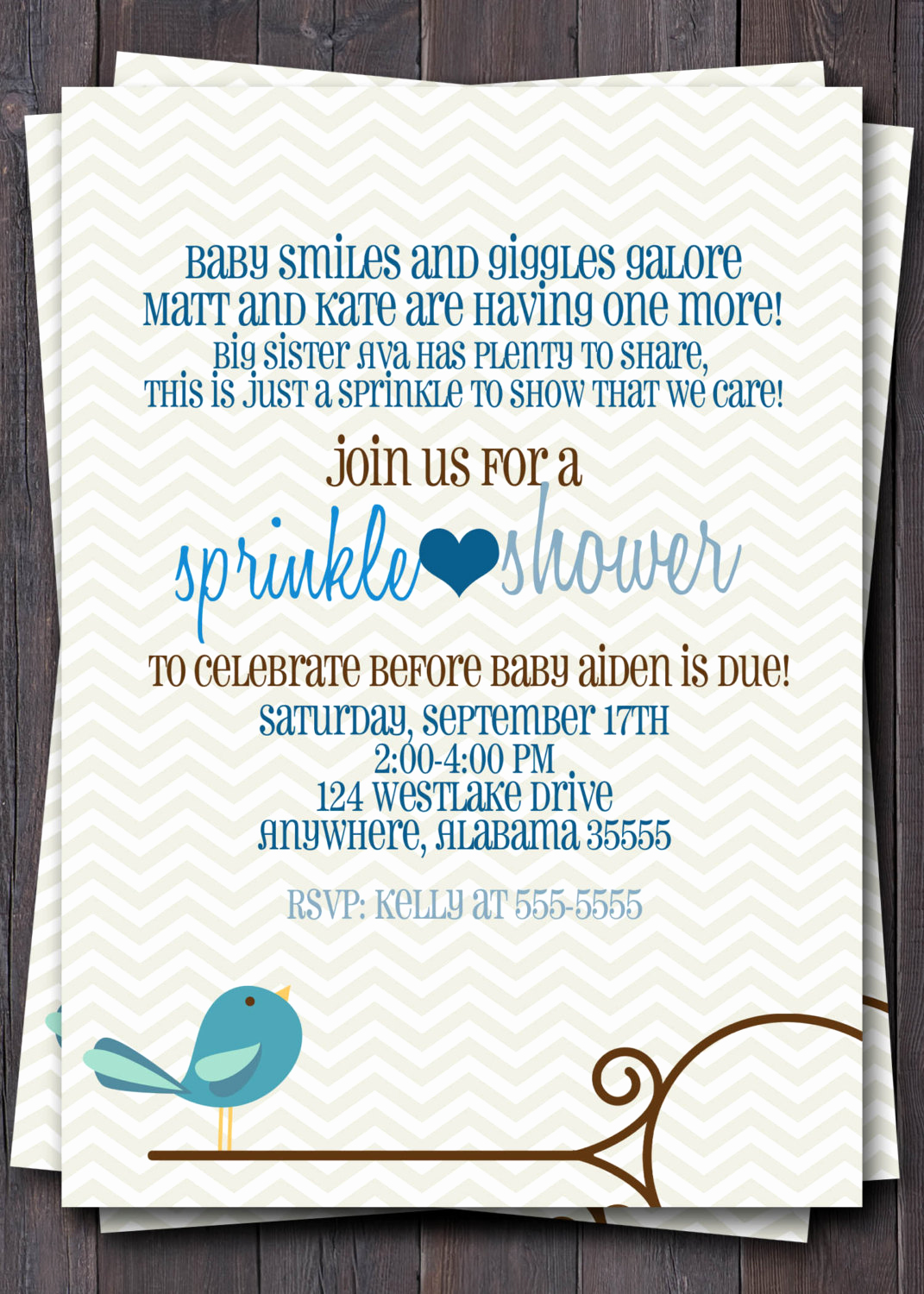 Sprinkle Baby Shower Invitation Wording Inspirational Baby Sprinkle Baby Shower or Sip N See Invitation Baby