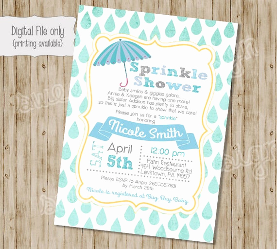Sprinkle Baby Shower Invitation Wording Lovely Baby Boy Shower Invitation Baby Sprinkle Invitation Sprinkle