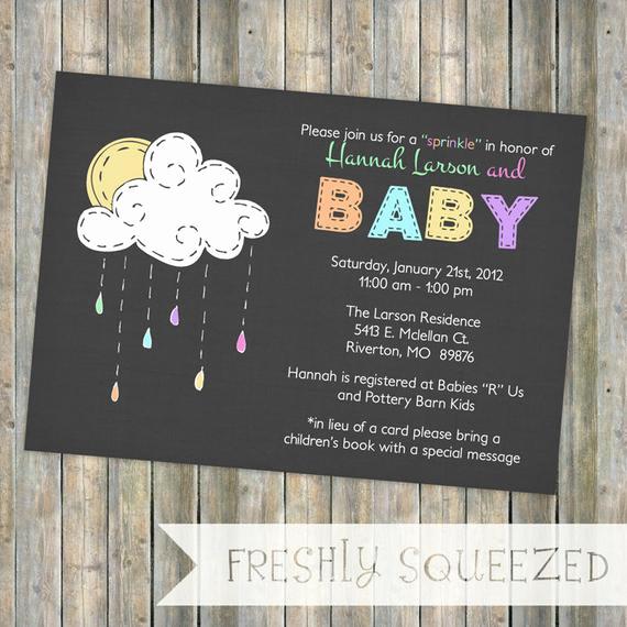 Sprinkle Shower Invitation Wording Awesome Baby Sprinkle Invitation Sprinkle Shower Gender Neutral