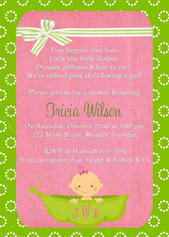 Sprinkle Shower Invitation Wording Elegant Baby Shower Invitation or Baby Sprinkle for 2nd or 3rd Child