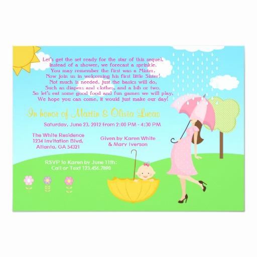 Sprinkle Shower Invitation Wording Fresh Cute Modern Mom and Baby Girl Baby Sprinkle 5x7 Paper