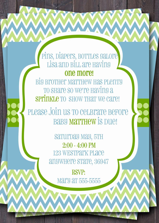 Sprinkle Shower Invitation Wording Inspirational Modern Chevron Baby Sprinkle Baby Shower or Sip N See