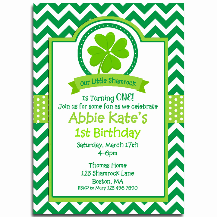 St Patrick Day Invitation Awesome St Patrick S Day Invitation Printable Birthday by