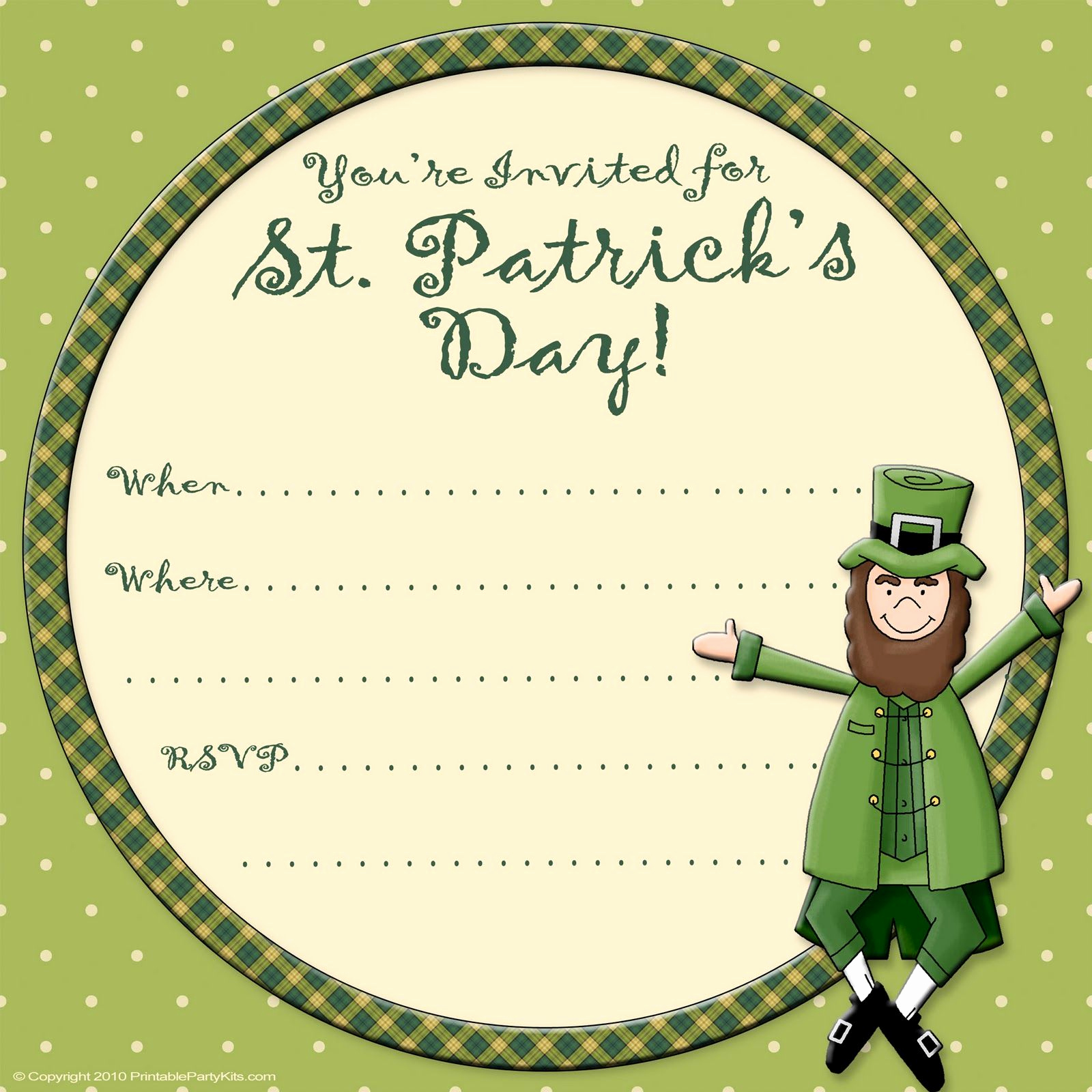 St Patrick Day Invitation Beautiful Free Printable Party Invitations Free St Patrick S Day