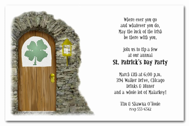St Patrick Day Invitation Beautiful Irish Pub Party Invitation St Patrick S Day Party