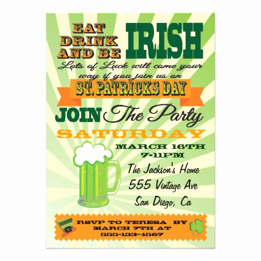 St Patrick Day Invitation Beautiful Poster Style St Patrick S Day Party Invitation