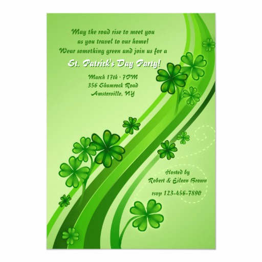 St Patrick Day Invitation Beautiful Shamrock Road St Patrick S Day Party Invitation