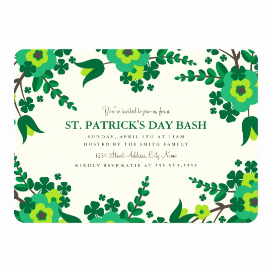 St Patrick Day Invitation Beautiful St Patricks Day Cards Greeting & Cards