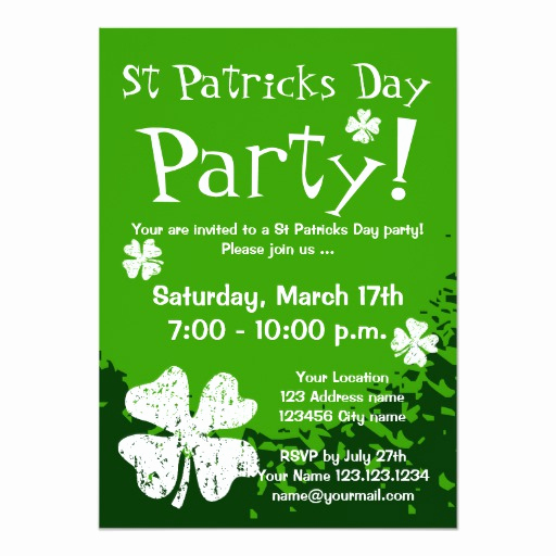 St Patrick Day Invitation Beautiful St Patricks Day Party Invitations Customizable