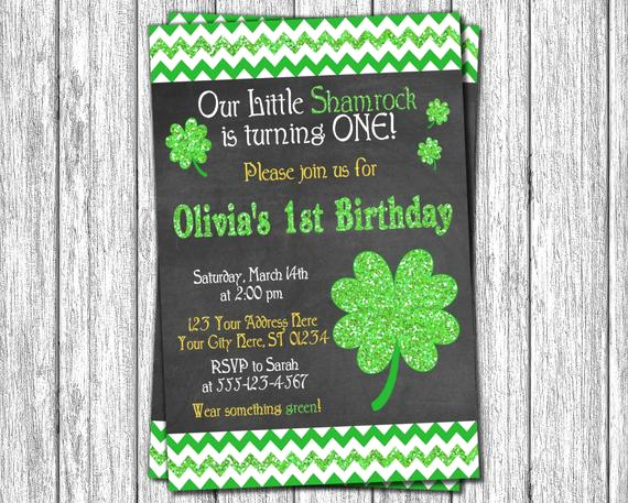 St Patrick Day Invitation Best Of St Patrick S Day Birthday Invitation St Patricks by
