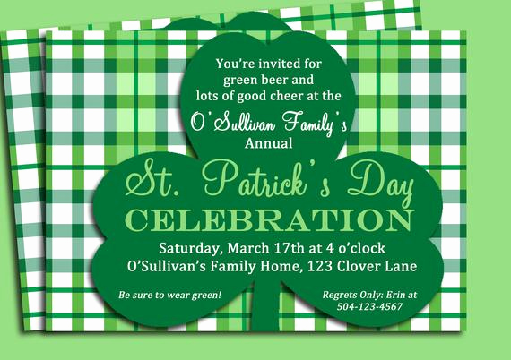 St Patrick Day Invitation Best Of St Patrick S Day Invitation Printable Birthday by