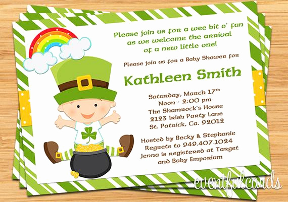 St Patrick Day Invitation Fresh St Patricks Day Irish Baby Shower Invitation