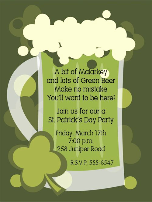 St Patrick Day Invitation Inspirational 17 Best Images About Party Invitation Wording On Pinterest