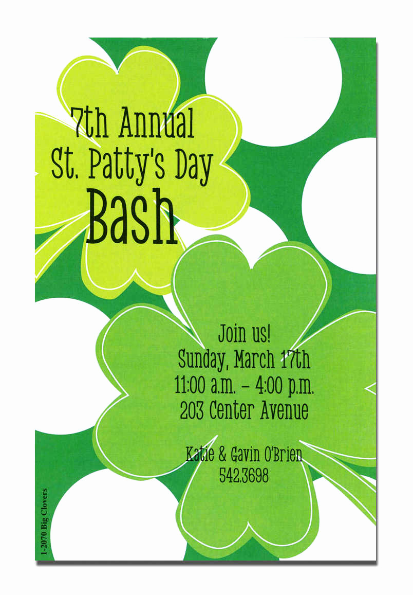 St Patrick Day Invitation Inspirational St Patrick S Invitations