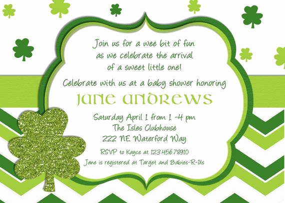 St Patrick Day Invitation Luxury St Patricks Day Baby Shower Invitation Printable and Custom