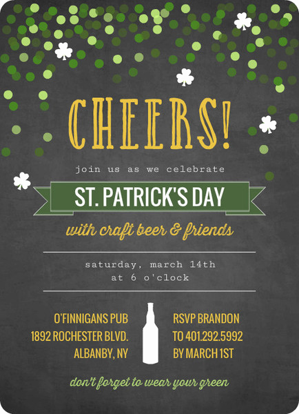 St Patrick Day Invitation Luxury St Patty S Day Cards and Invitations