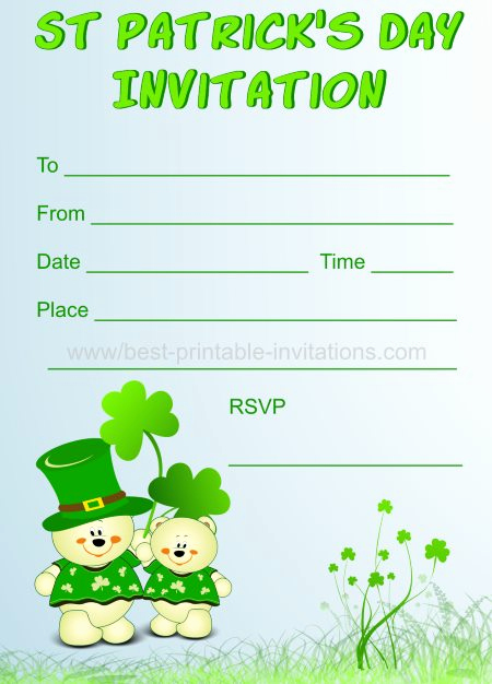 St Patrick Day Invitation New Printable St Patrick S Day Invitations