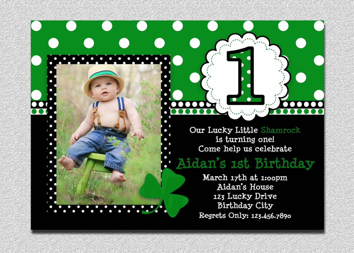 St Patrick Day Invitation New St Patricks Day Birthday Invitation 1st Birthday St Patricks
