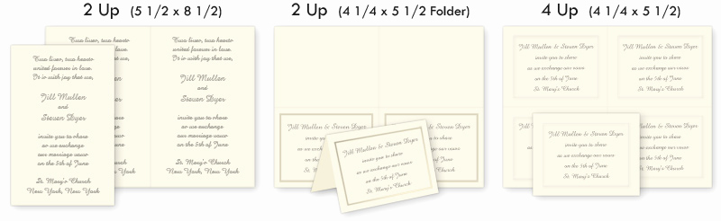 Standard Wedding Invitation Size Inspirational 2up & 4up Perforated Invitations