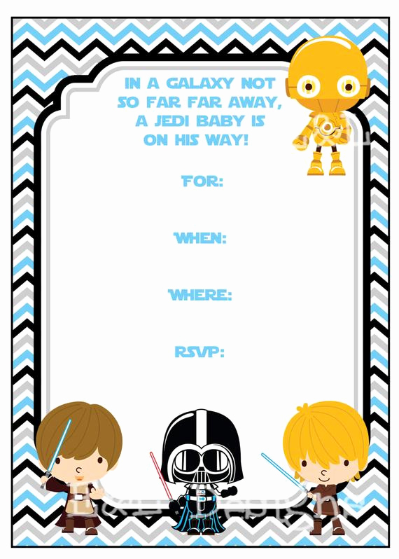Star Wars Baby Shower Invitation Awesome Star Wars Baby Shower 5x7 Invitation Boy Baby Shower Instant