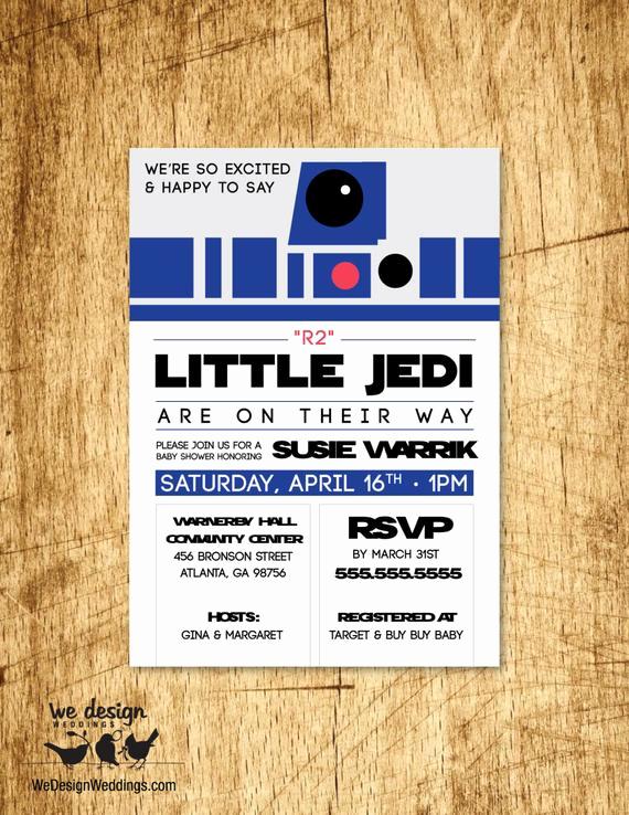 Star Wars Baby Shower Invitation Beautiful Items Similar to Custom Star Wars Inspired Baby Shower