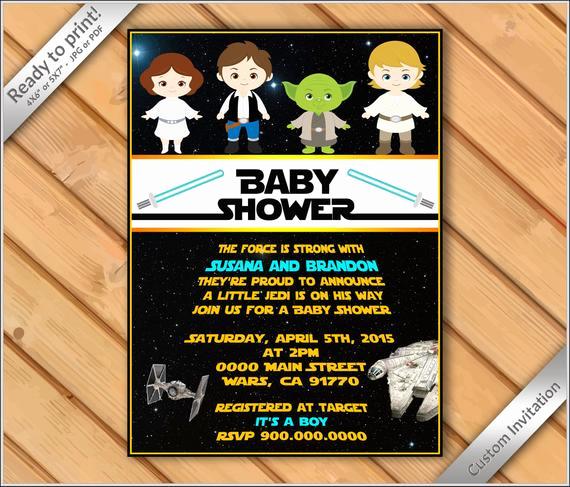 Star Wars Baby Shower Invitation Elegant Off Sale Baby Shower Star Wars Invitation Star Wars