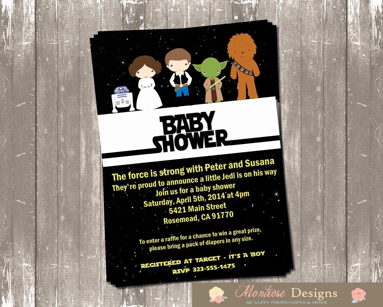 Star Wars Baby Shower Invitation Elegant Star Wars Baby Shower Invitation Digital File